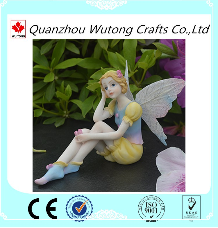 customized cheap resin fairy figurines wholesale for home decoration