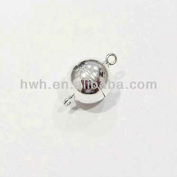 H672 Silver Ball Shaped Magnetic Clasp 8mm / 10mm