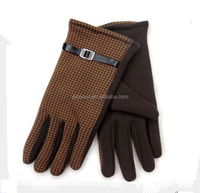 BHWG026 Plaid printed cotton glvoes New winter warm men ridding gloves for sport