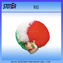 Fashionable multicolor fans wigs