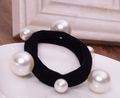 White Pearl elastic hair band