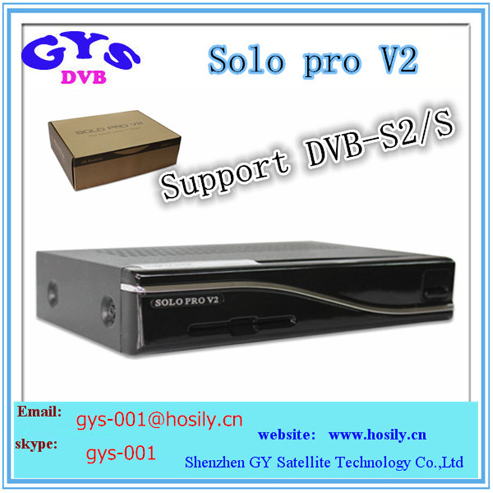 Solo pro Version 2 Enigma 2 Linux operate system 750MHz MIPS satellite tv receiver in stock