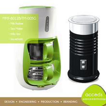 Electric Milk Frother with Automatic Coffee Tea Maker