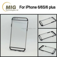 Transparent crystal mobile phone case for iphone 6s with 2 lines cell phone cover clear wholesale on alibaba