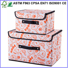 Carton Decorative Storage Box With Lid