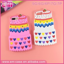 for iphone 5 soft silicone case with transformer 3d cake design , hot selling phone case in 2017