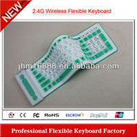 2.4g silicon flexible microsoft wireless keyboard and mouse