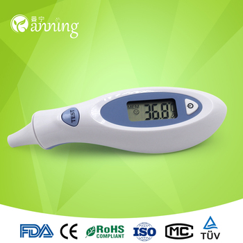 Professional ear forehead thermometer,digital smart sensor infrared thermometer,infrared digital thermometer with probe