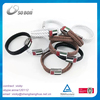 Last design Fashion braided blank bracelet making supplies leather bracelet with stainless steel magnetic for men