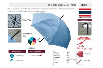 24 Inches Black Metal Frame Umbrella