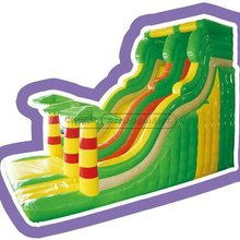 Cheer Amusement Jungle Theme giant inflatable slide for indoor / outdoor playground