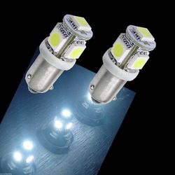 5 SMD 5050 1445 1893 6253 BA9s H6W LED Light For Auto Car Wedge Interior Dome Lamp Bulbs