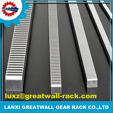 Machine thermal refined gear rack and pinion sliding gate track use for elevator