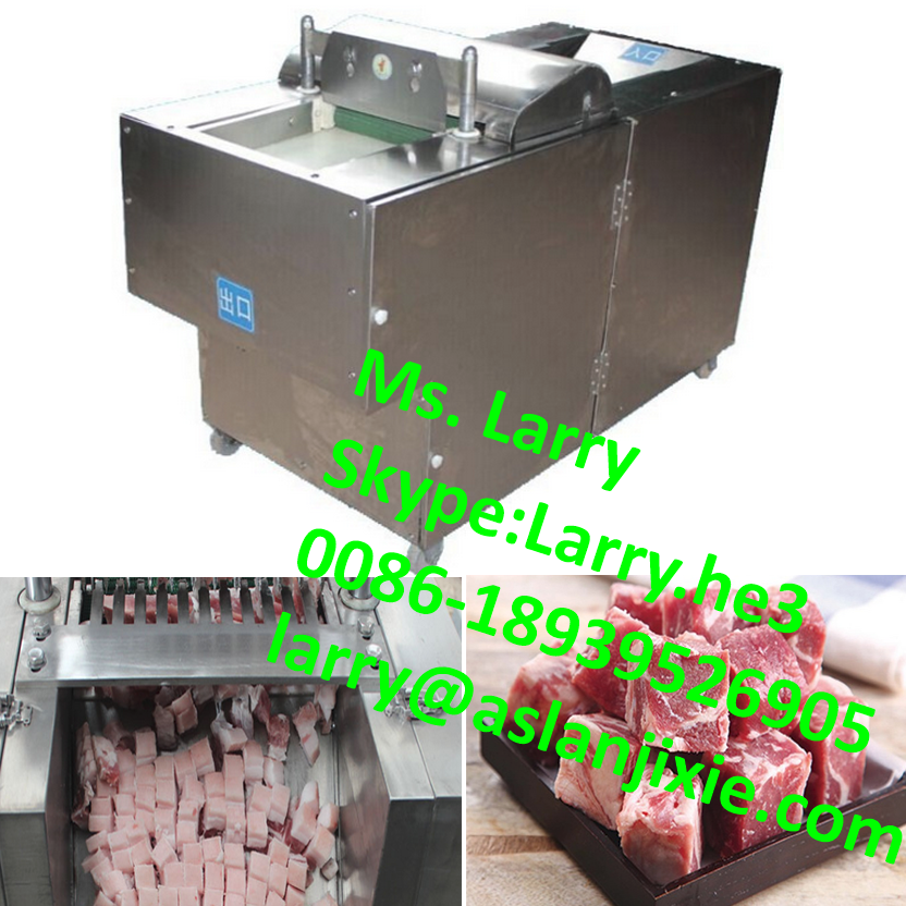 hot selling frozen meat cube cutter/frozen meat dicer machine/automatic chicken in bone cutting machine