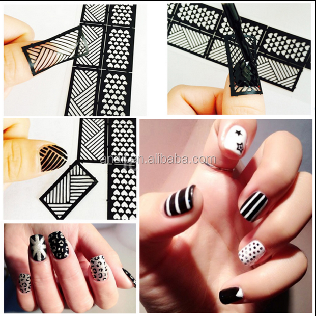 Wholesaler Price Stylish Nail Polish Hollow Design Stencil DIY Nail Sticker
