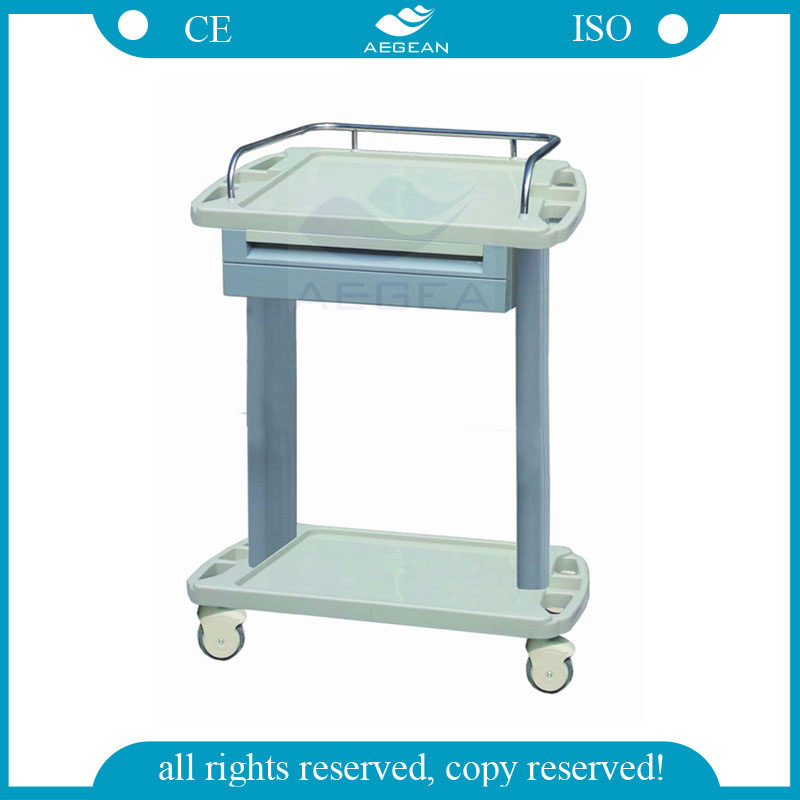 AG-LPT002A OEM hospital plastic material delivery cart 4-wheel