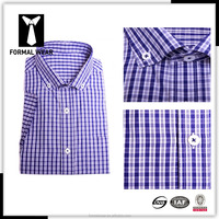 Formal wear tailored button down fitted latest formal shirt designs for men