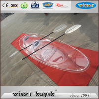 100% Transparent High quality best price used not inflatable double sea kayaks