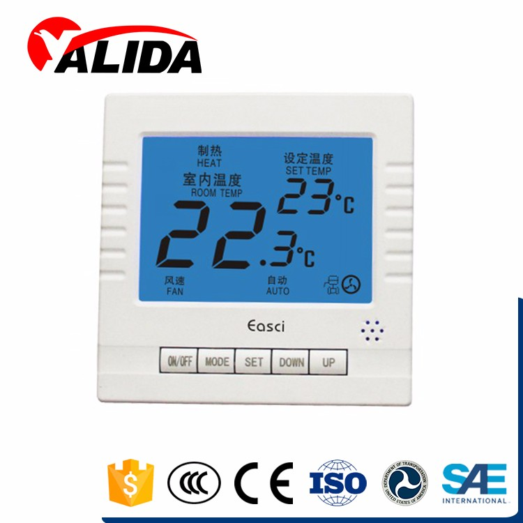 Wifi Central Air Conditioner Type Digital Fan Coil Thermostats
