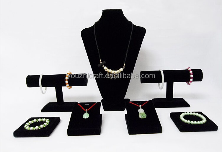 YouZhi Handmade Jewelry Display bracelet Stand Type Display, velvet necklace Stand