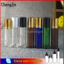 Chengjin 4ml 6ml 8ml 10ml perfume glass roll bottle with plastic and steel roller ball