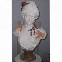 Stone carving head female marble bust sculpture