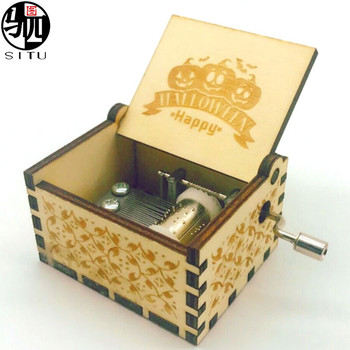 hot selling game of thrones wooden hand crank music box