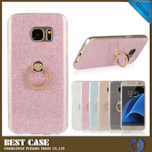 Shining Shockproof Glitter Cover for samsung galaxy s7 G9300 Case with Ring Holder