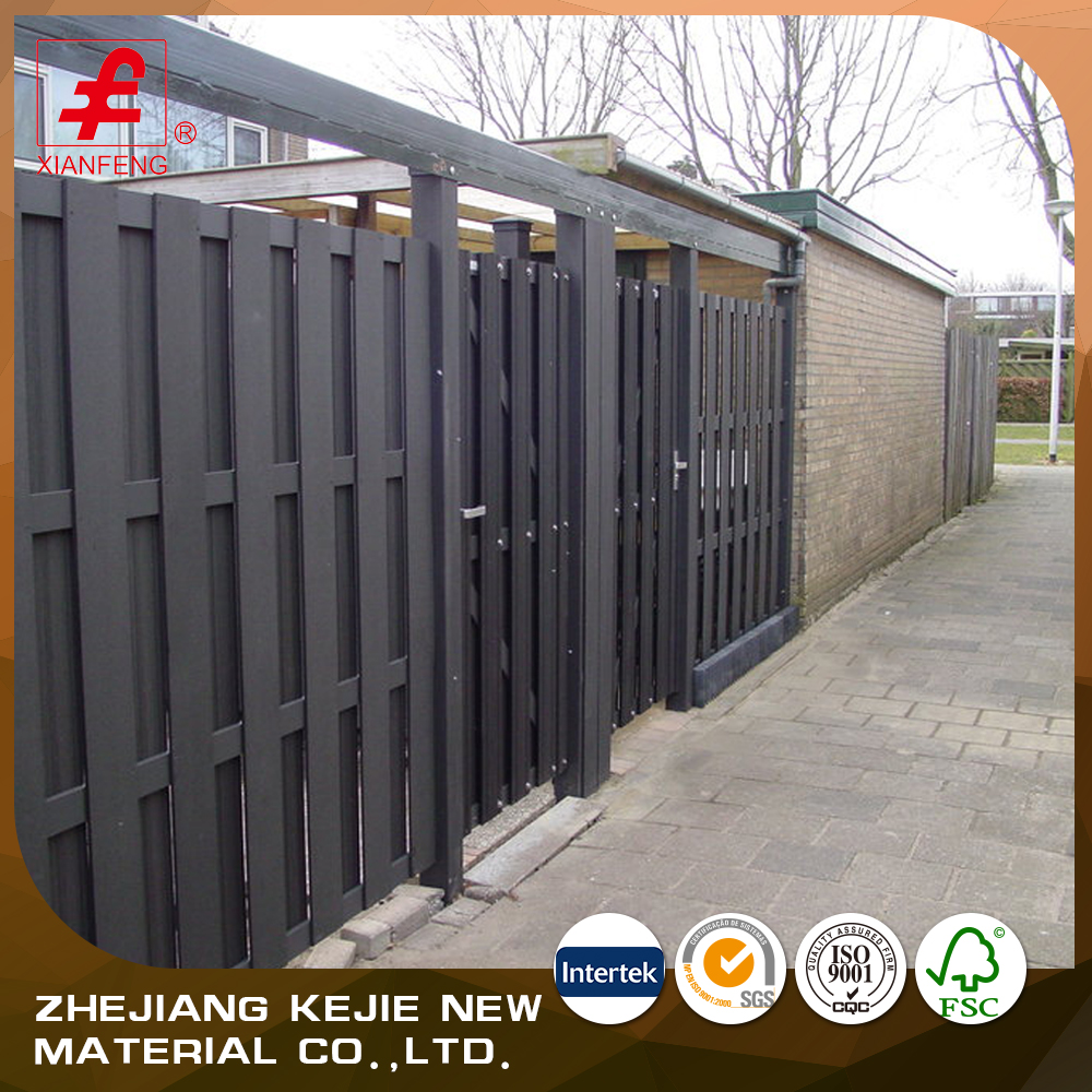 Water resistant wpc materials wooden plastic outdoor fence panel