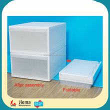New design fashion foldable file cabinet kids storage box baby plastic drawer