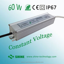 output 2.5a 24v 60w input 170-265vac waterproof electronic led driver, led power supply 24 v 60 w ip 67