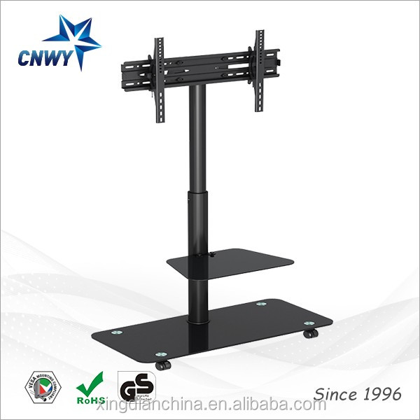 fancy design 2-layer shelves lcd led tv stand 40 inch model for genersal