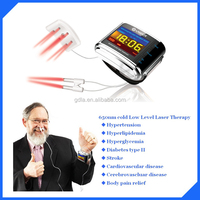 650nm laser blood irradiation wrist watch for reduce blood pressure and sugar