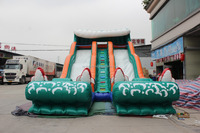 Big Double Lane Kahuna Water Slide Rental Indy Water Slide Inflatable Factory