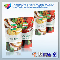 custom printing 250g 500g food packaging zipper stand up pouch with zipper