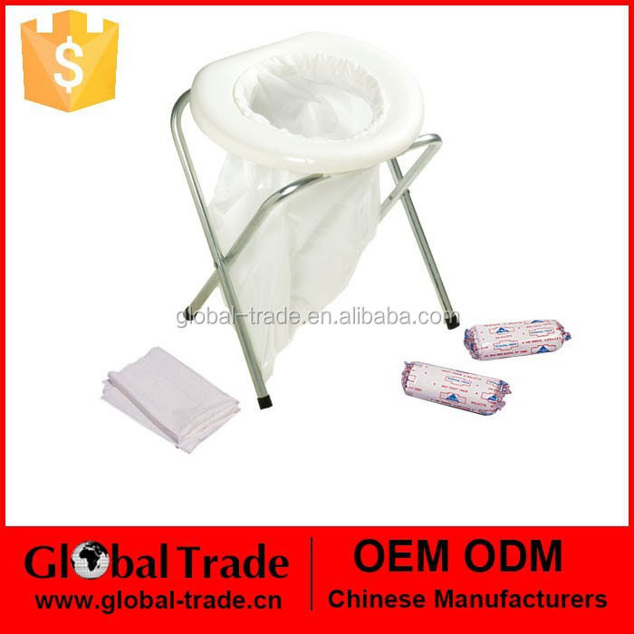 ANDES PORTABLE FOLDING CAMPING OUTDOOR TOILET WITH 10 BAGS