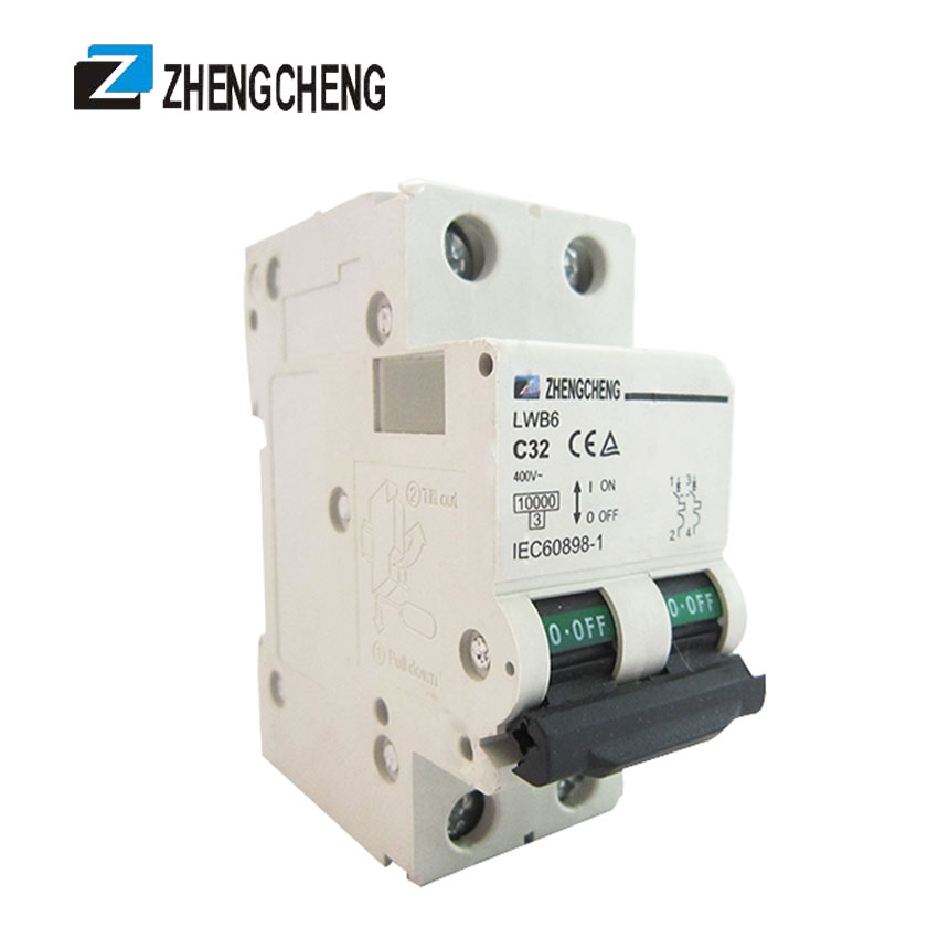 2 Pole 40 Amp over voltage protection electrical type miniature circuit breaker MCB