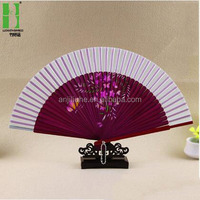 Japanese personalized folding hand fans wholesale bamboo handicraft product