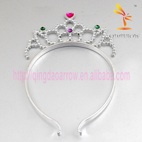 Wholesale Flower Cheap Plastic Tiara And