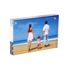 Custom Clear Acrylic Magnetic Photo Frame for wholesaler