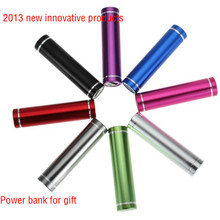 2013 new innovative products for gift, lipstick power bank for gift with well design