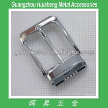 chrome color zinc alloy belt buckles with pin 35mm
