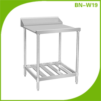 BN-W19 Dish washing table Stainless steel work table