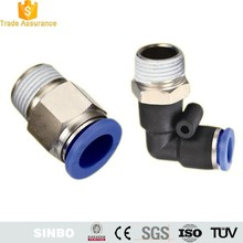Quick connect push to connect air pressure fittings pneumatic hose connectors couplers