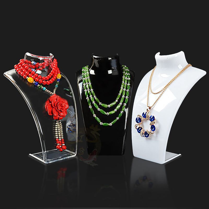 Custom Creative Fashion Jewelry display Stand Plastic Necklace Display Holder Factory Price