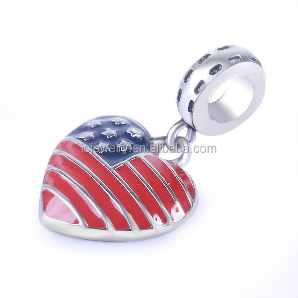 Personalized jewelry American flag theme charms