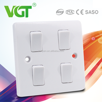 Factory hot sell home light 4 gang electric modular switch