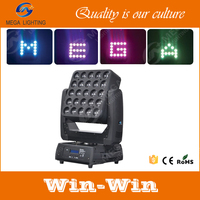 professional stage 25x10w rgbw 4in1 led matrix moving head 250 light