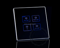 3gang 1way Glass Touch Panel Touch Screen Light Wall Switch