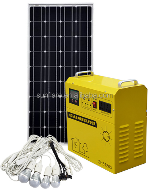 New Design Solar System SF-150W Green Energy for home daily use